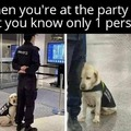 When you only know one person at the party