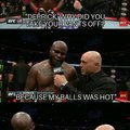 post fight interview with Derrick Lewis