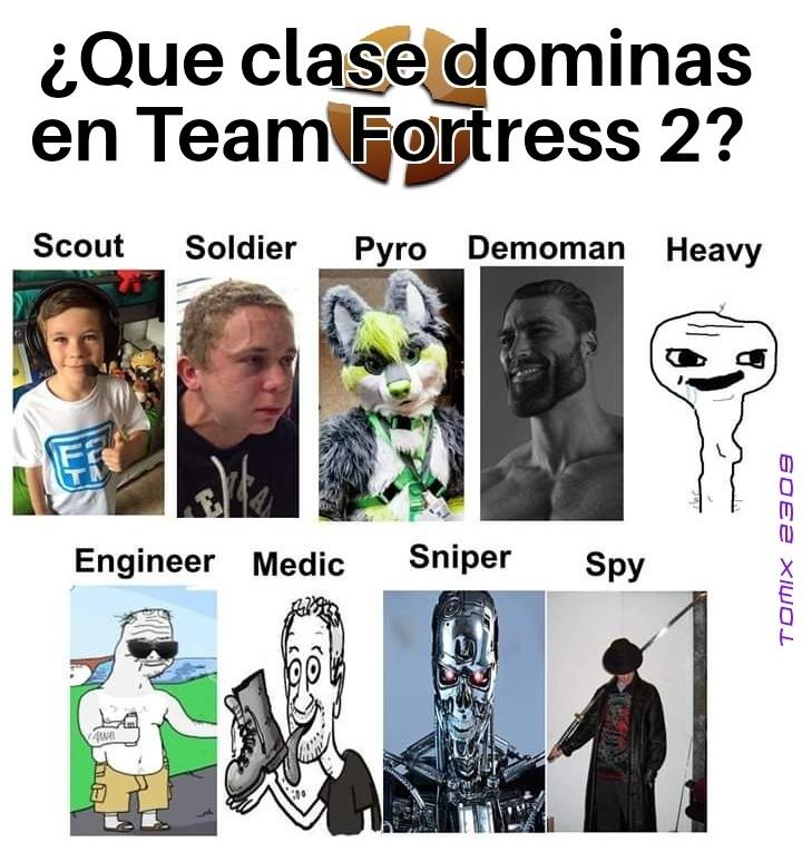 Estereotipos del tf2 - meme