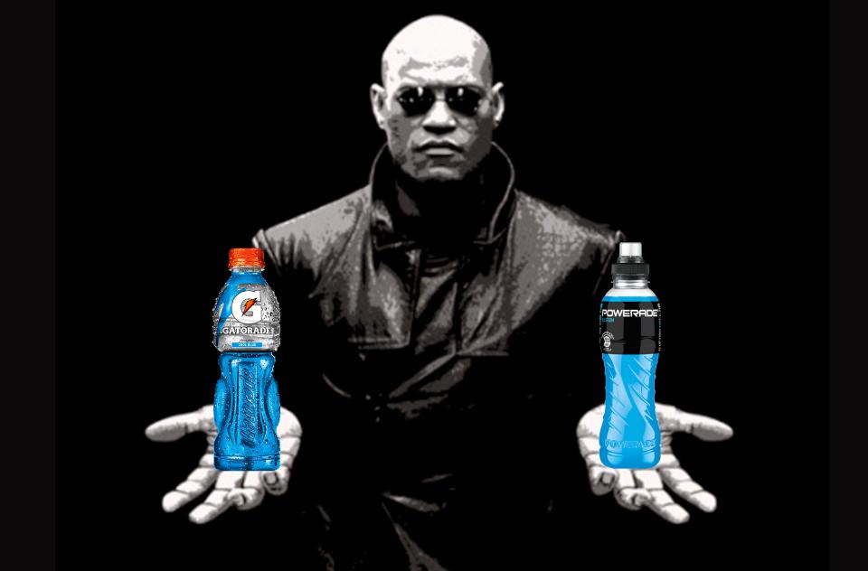 Gatorade o Powerade (azul) - meme