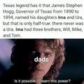 The girls name was Ima hogg