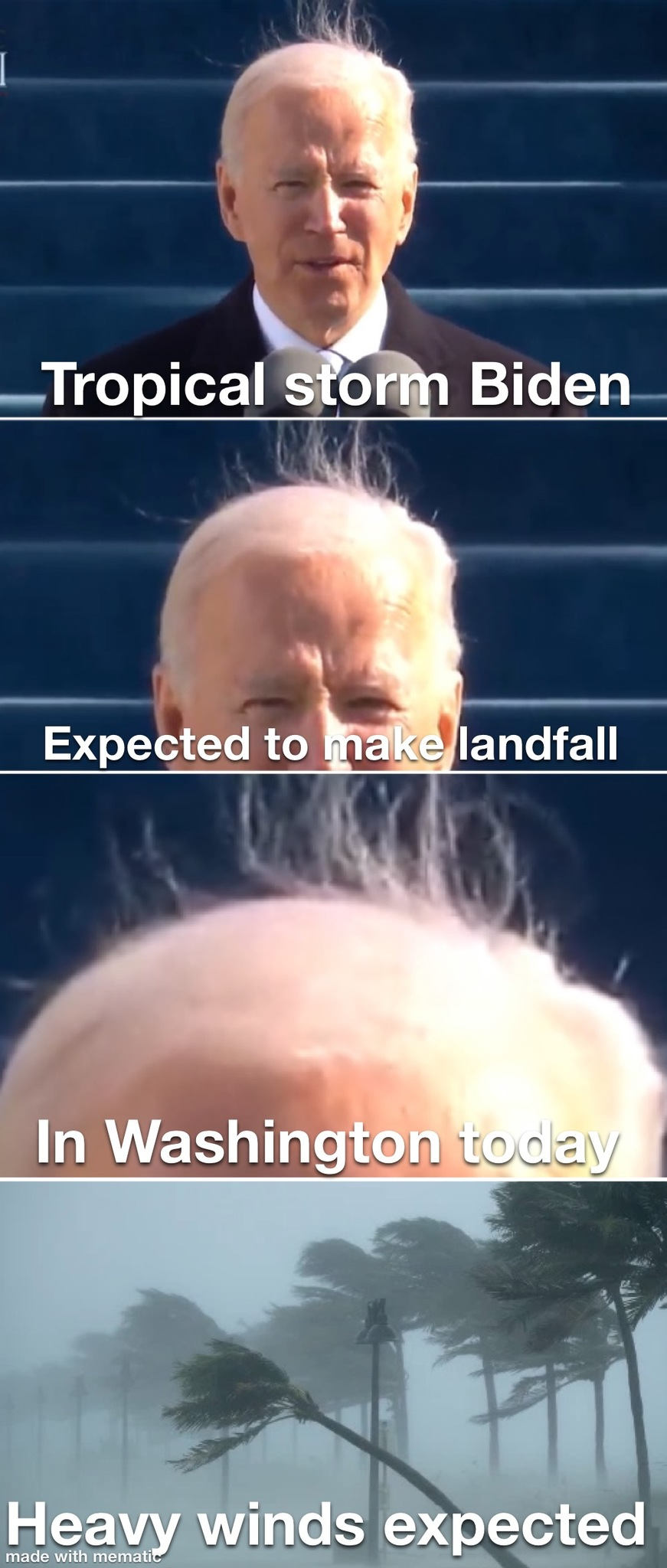 Hurricane Biden Inauguration - meme
