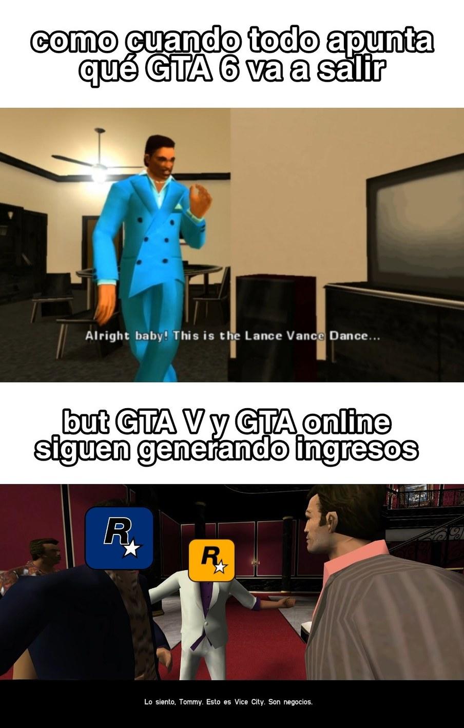 Rockstar qliado ya saque el GTA 6 - meme