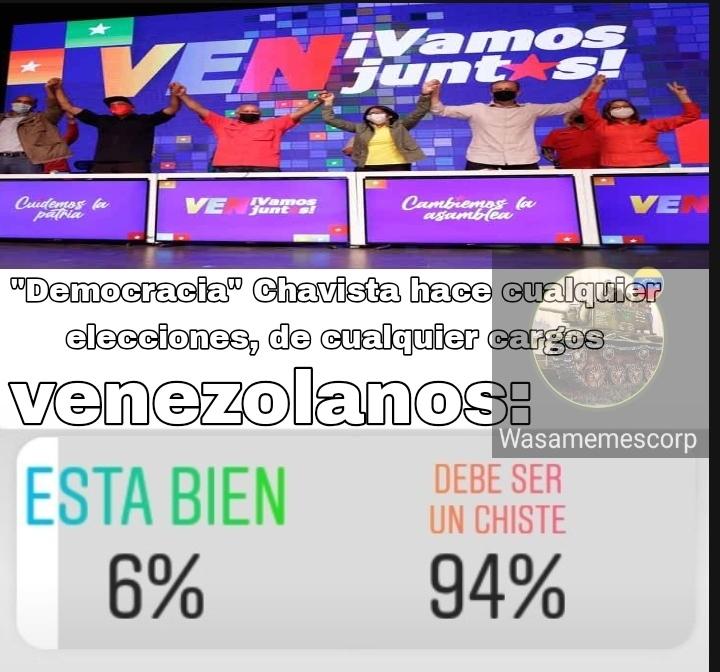 """Literal, el 6 de diciembre el 50% de mi barrio ni sabía que Maduro hizo """"elecciones"""" - meme"""
