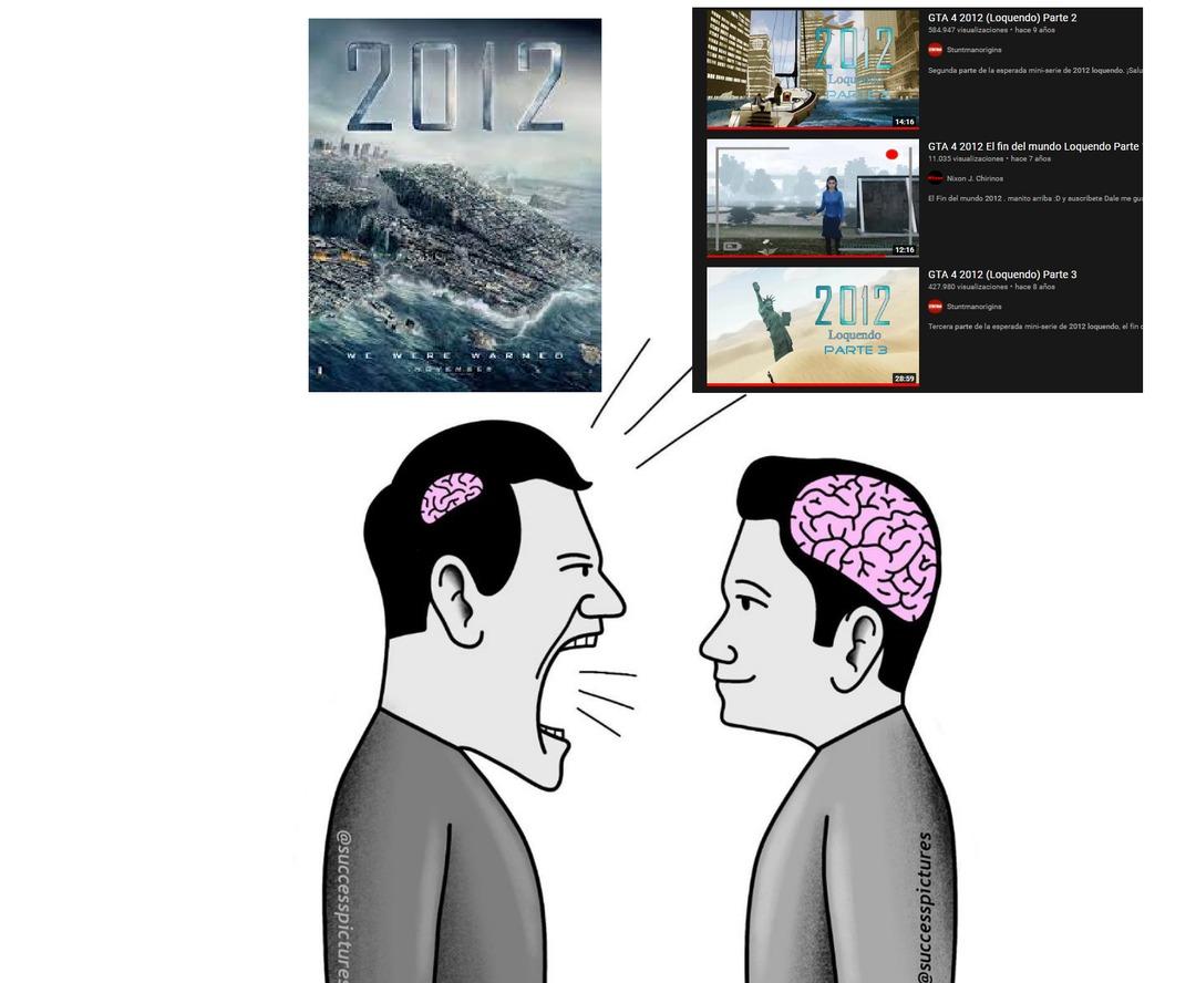 Si no han visto lo de la derecha les recomiendo muchisisisimo que lo vean es entretenido y tiene una gran moraleja al final - meme