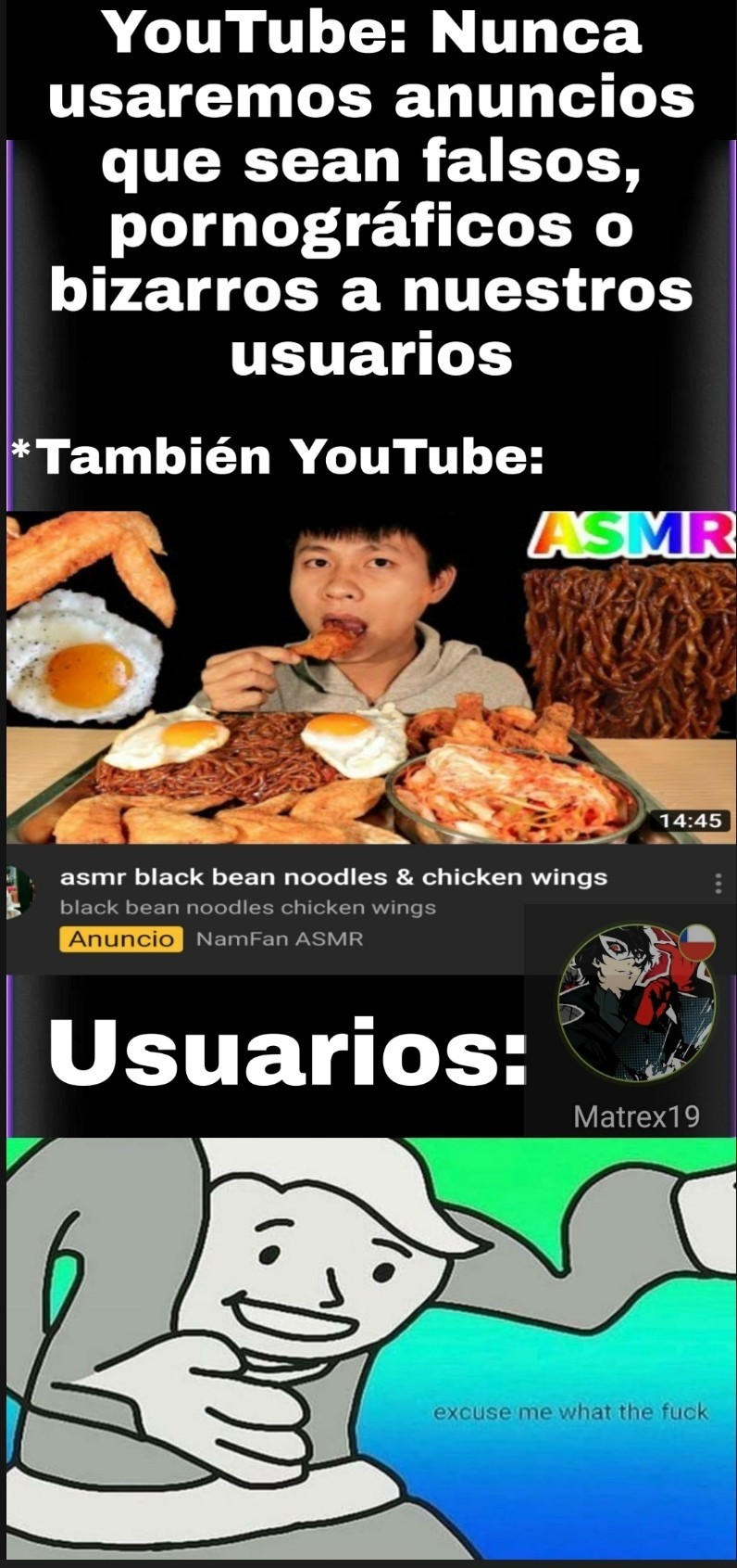 Que clase de anuncios hace Youtube hoy en día... - meme