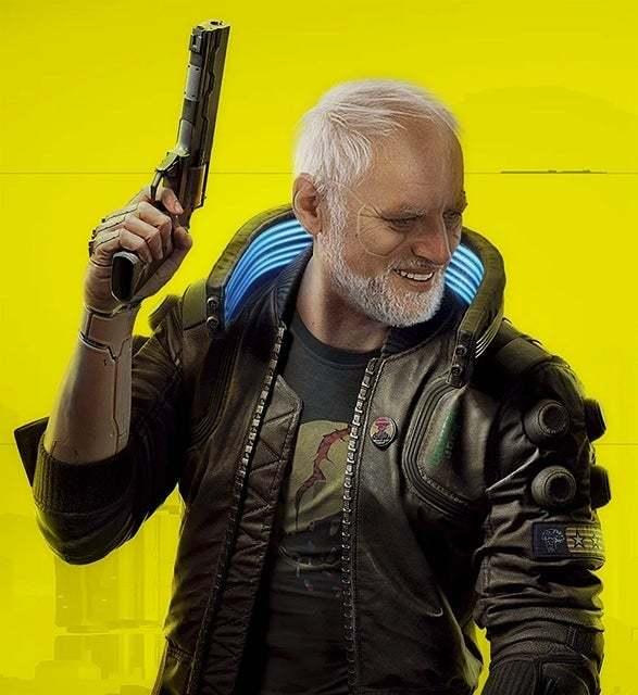 Cyberpain 2077 - meme