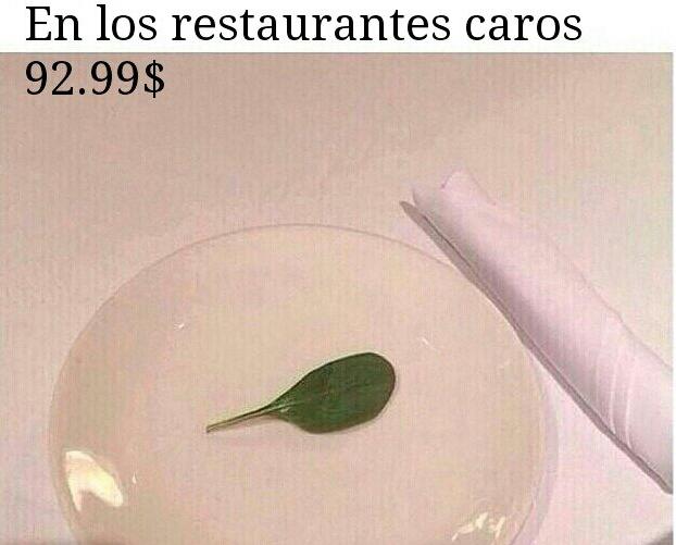 Restaurantes caros - meme