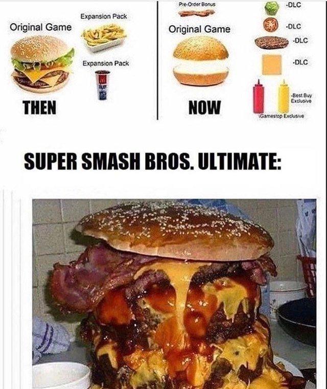 If burguers were video games - meme