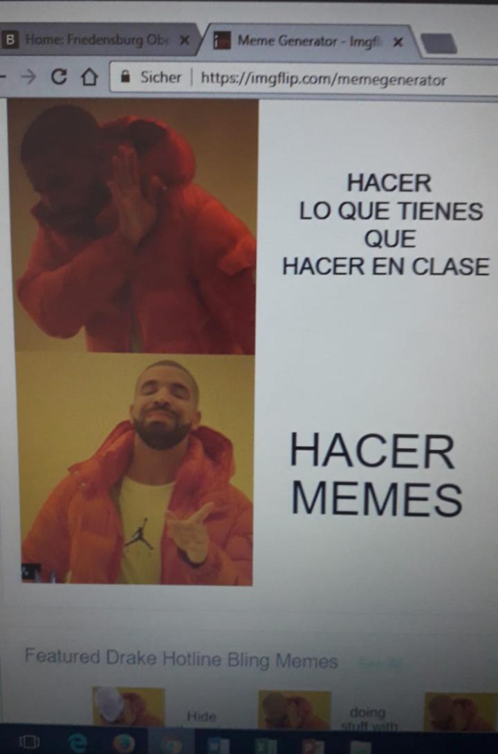 Lo hice en mi escuela XD - meme