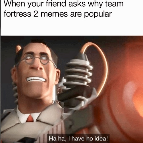 TF2 is better than fortnite - meme