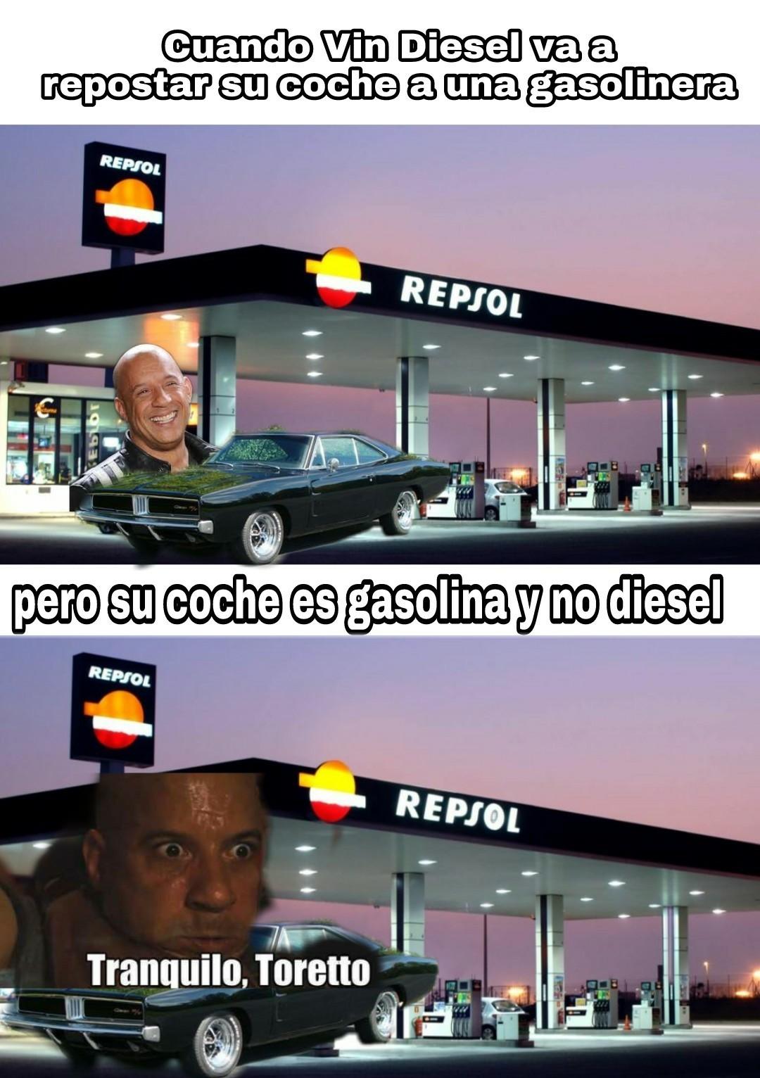 Vin Diesel se fue a comprarse un hibrido - meme