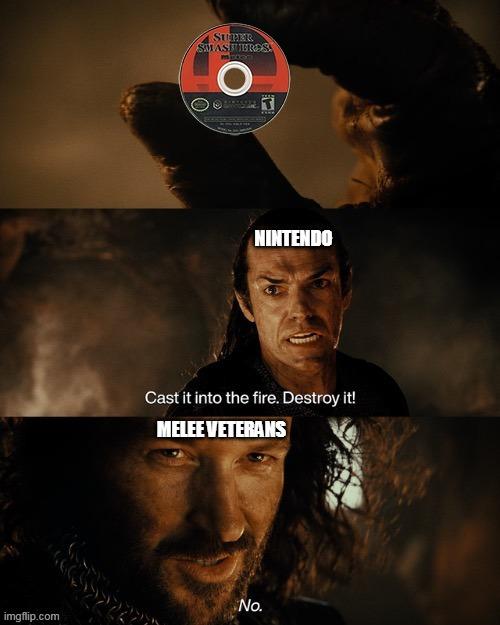 Nintendo Hates Melee - meme