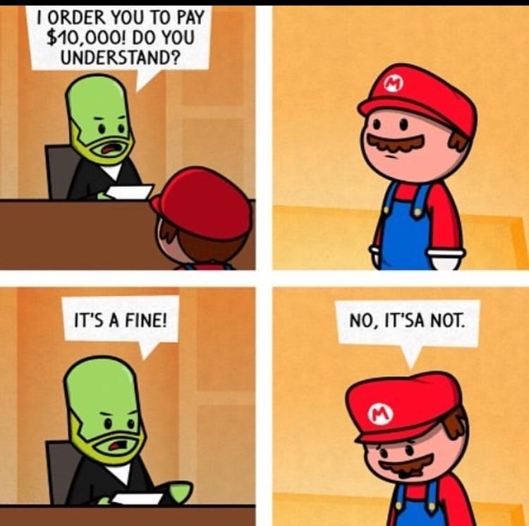 it's a fine - meme