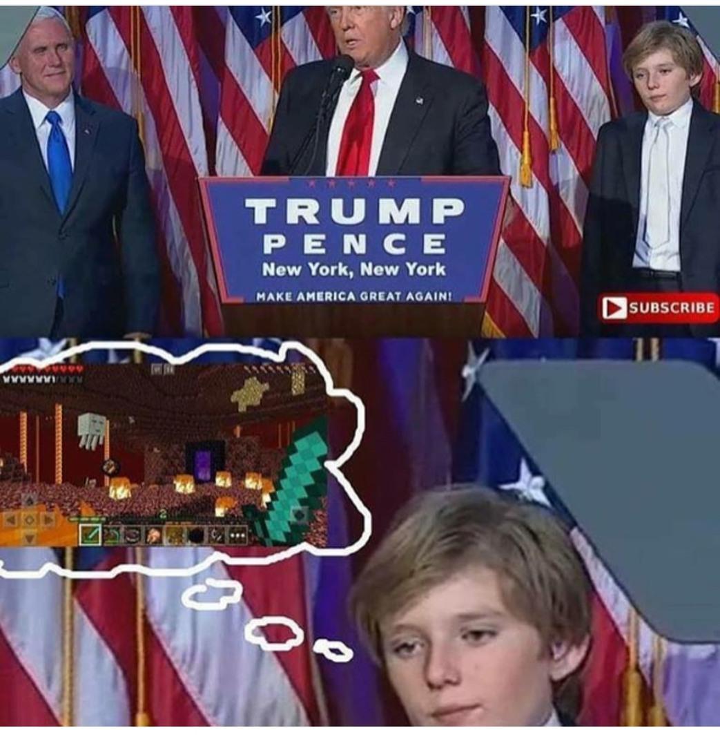 save us Barron - meme