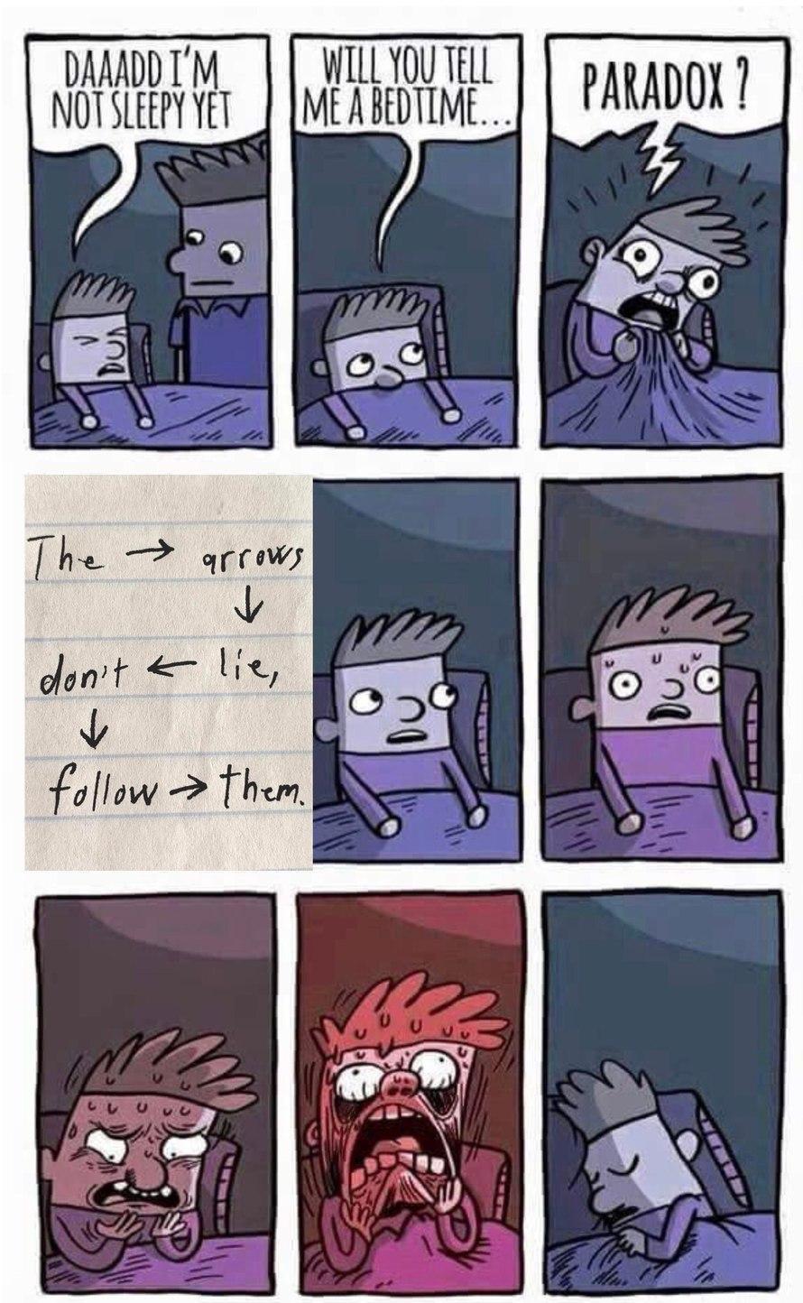 The don't follow arrows lie, them. - meme