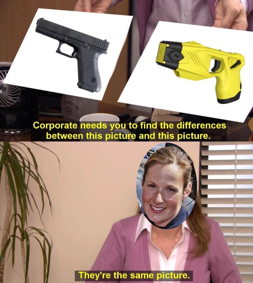 9mm Taser - meme