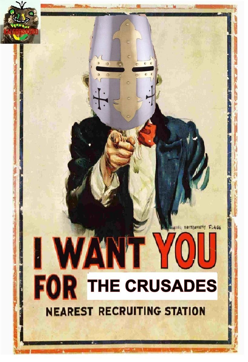 O título foi defender a Terra Santa - meme