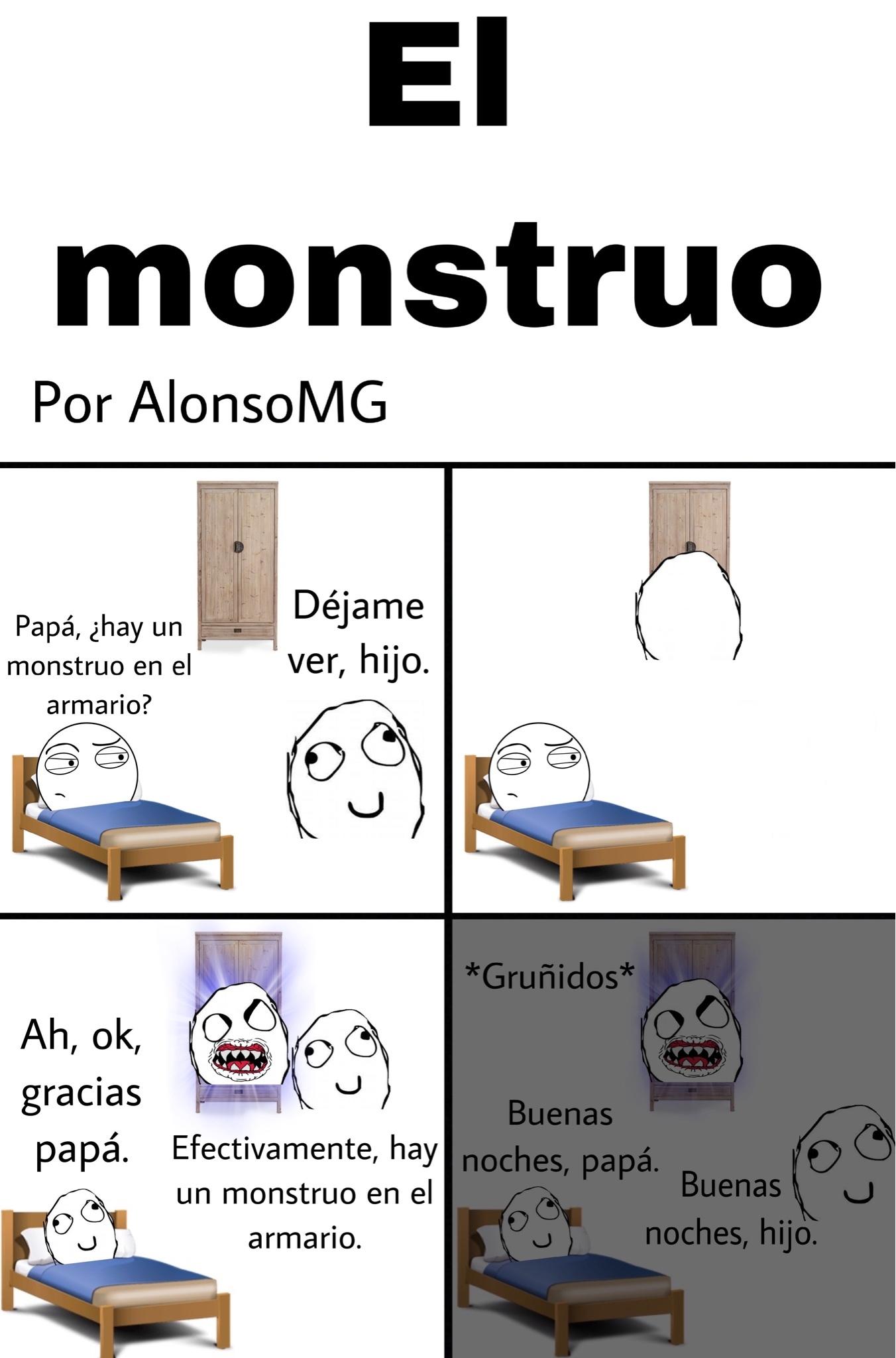 El monstruo está como que un poco qliao, pero bueh. :yaoming: - meme