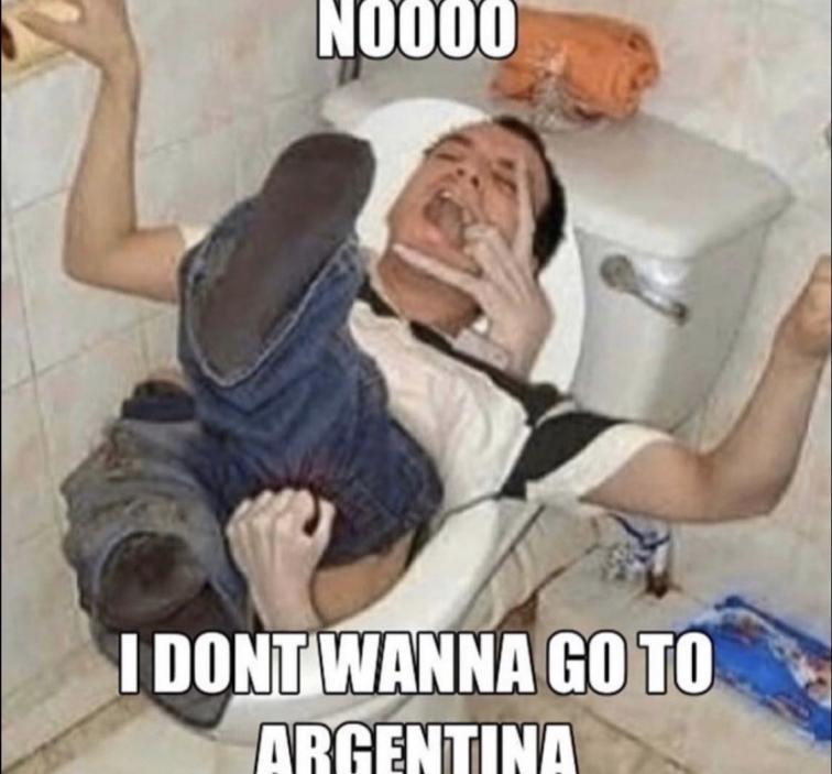 CUANDO TE ENTERAS QUE ALIMIERDAZOS ES DE ARGENTINA XDDDDDD - meme
