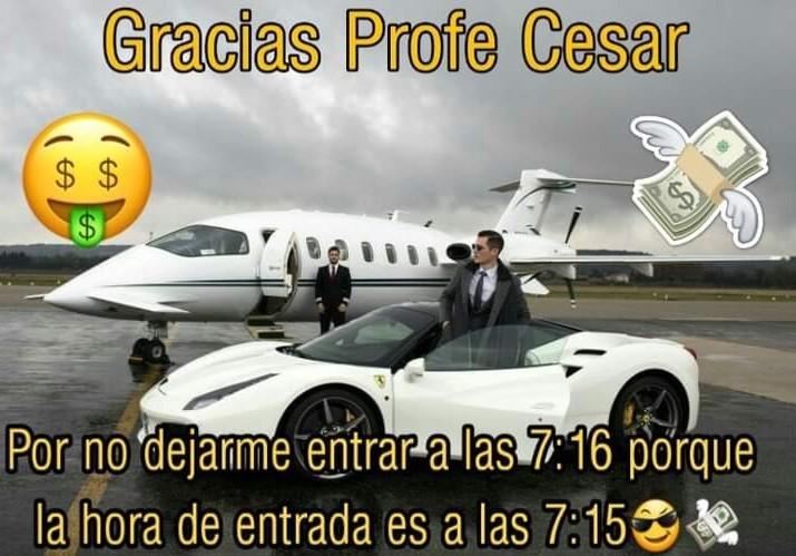 Gracias Profe Cesar - meme