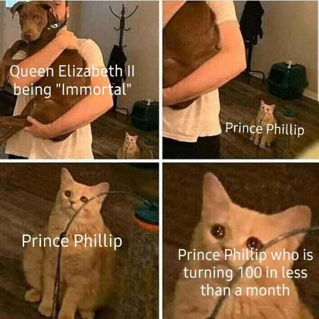 Prince Phillip is turning 100 in less than a month - meme