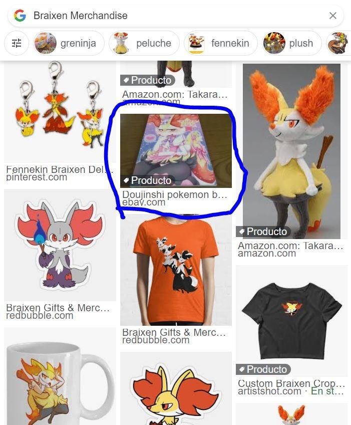 Pobrecita, solo busqué Braixen Merchandise y mm salió eso XDn´t - meme