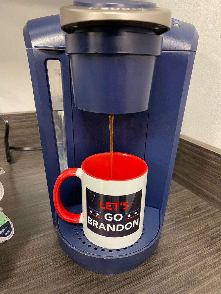 Mornin. Just getting a cup of Joe... er uh, Brandon - meme