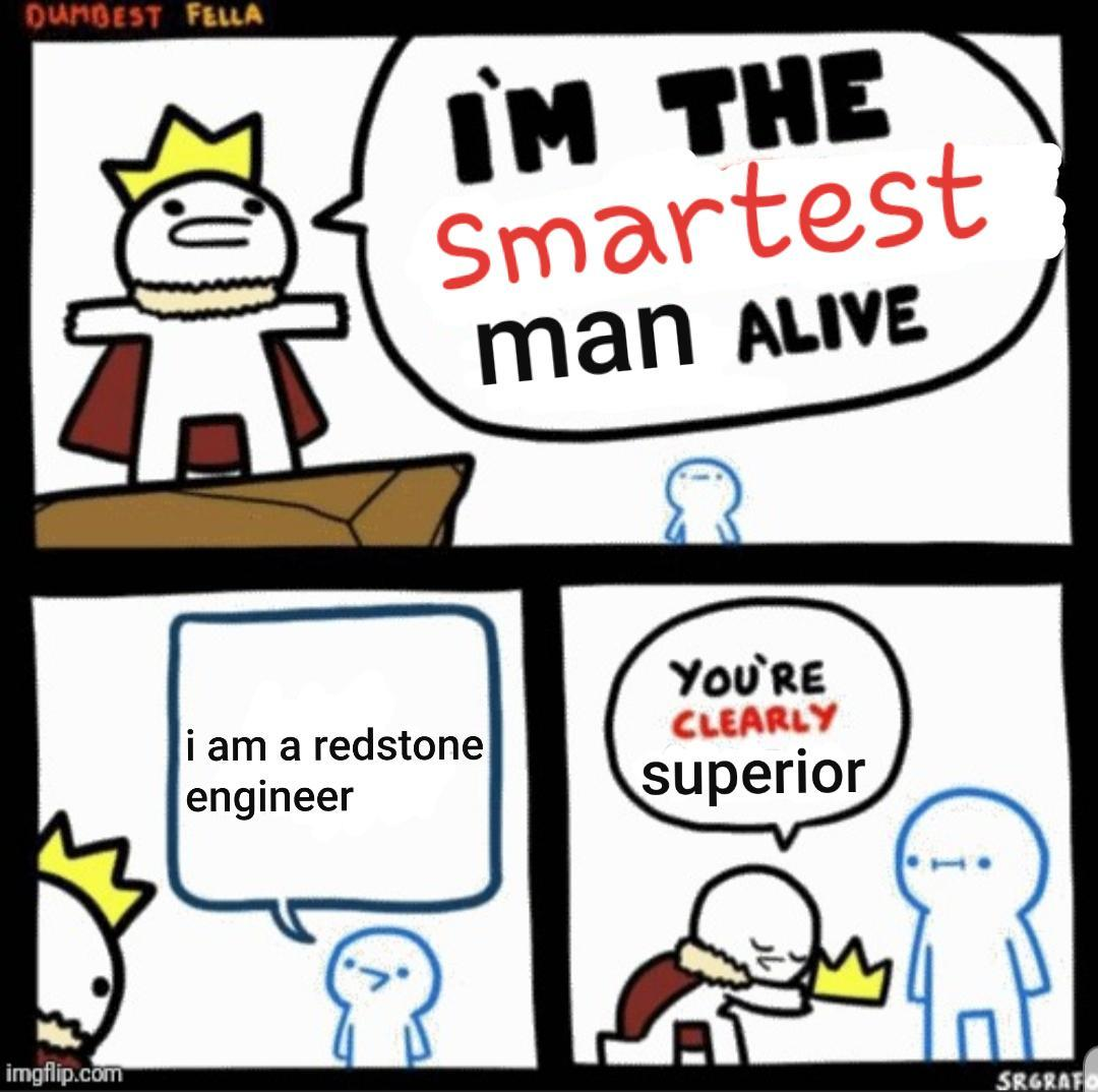 Redstone = smurtness - meme