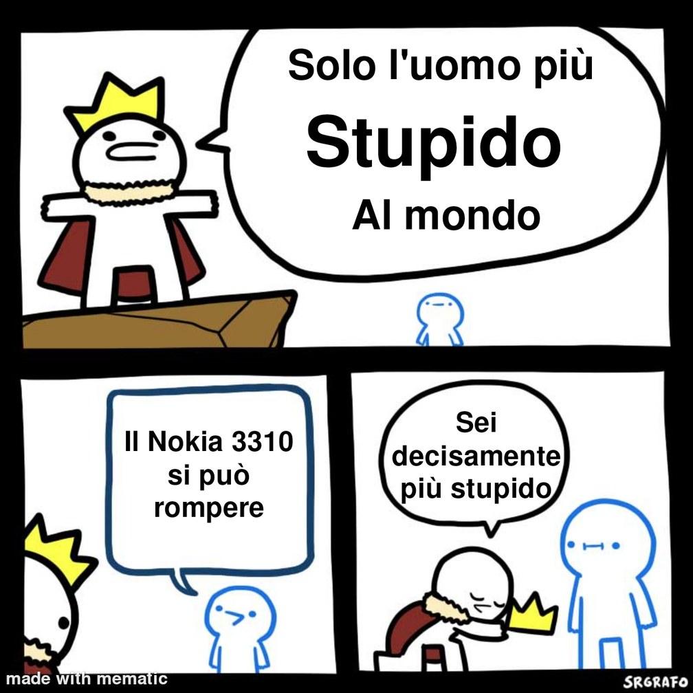 Il Nokia 3310 è Dio - meme