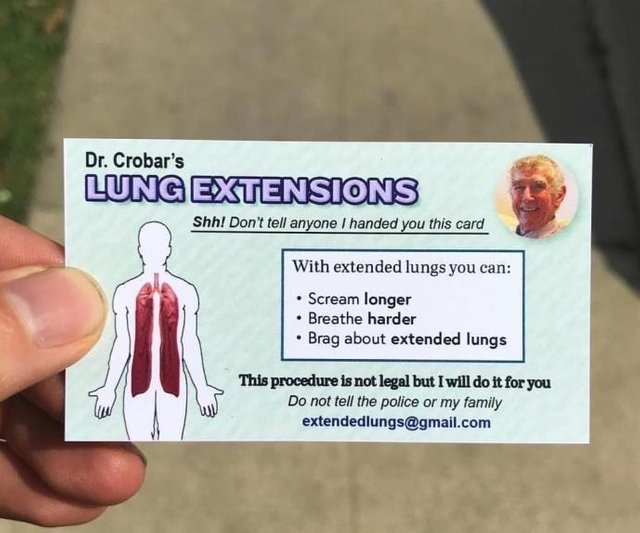 Dr Crobar's lung extensions - meme