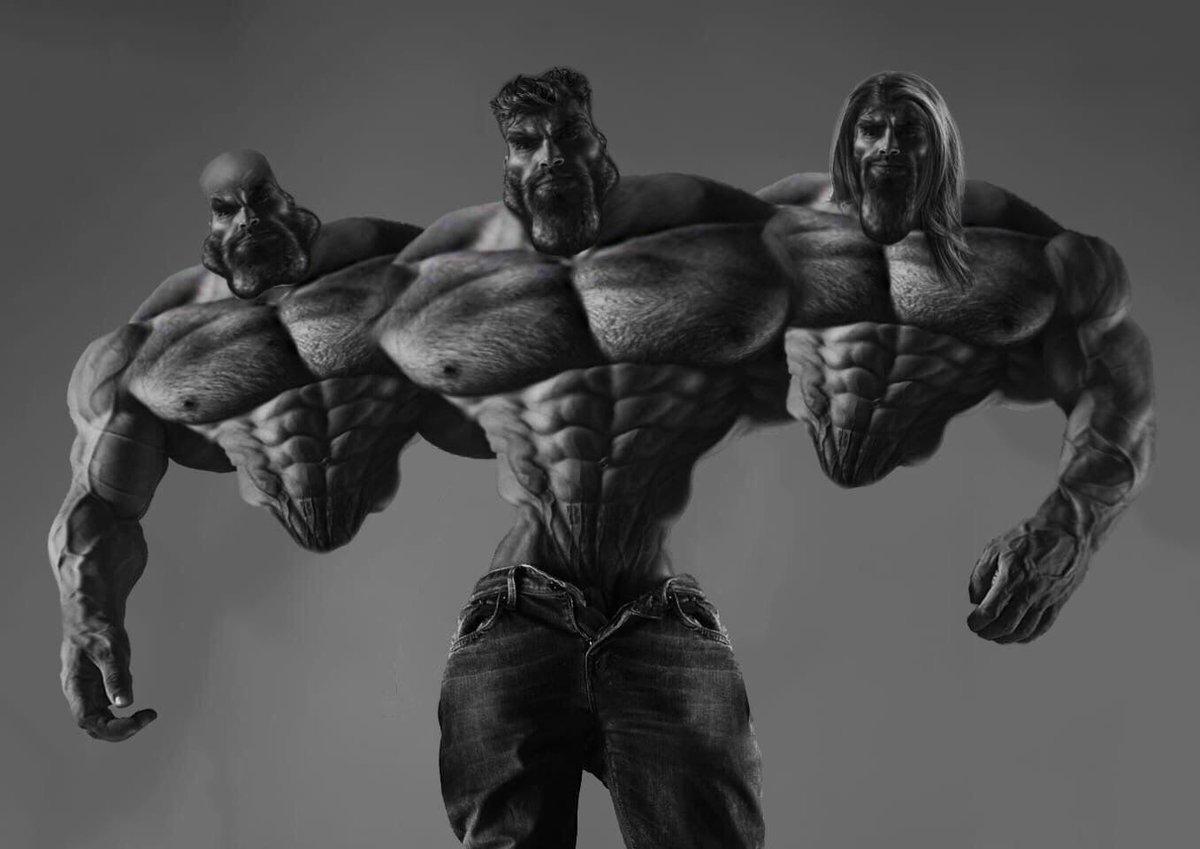 Krl, os músculos do mlk, wither teve umas aulas com o Léo estronda - meme