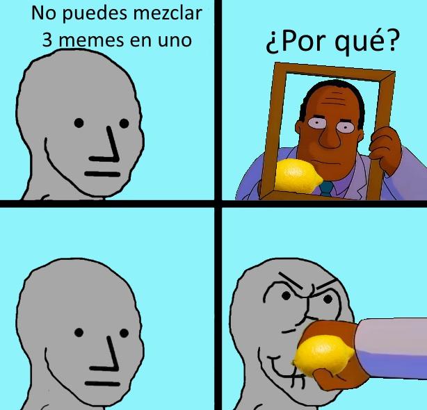 NPC + Lemon + Hibbert punch - meme