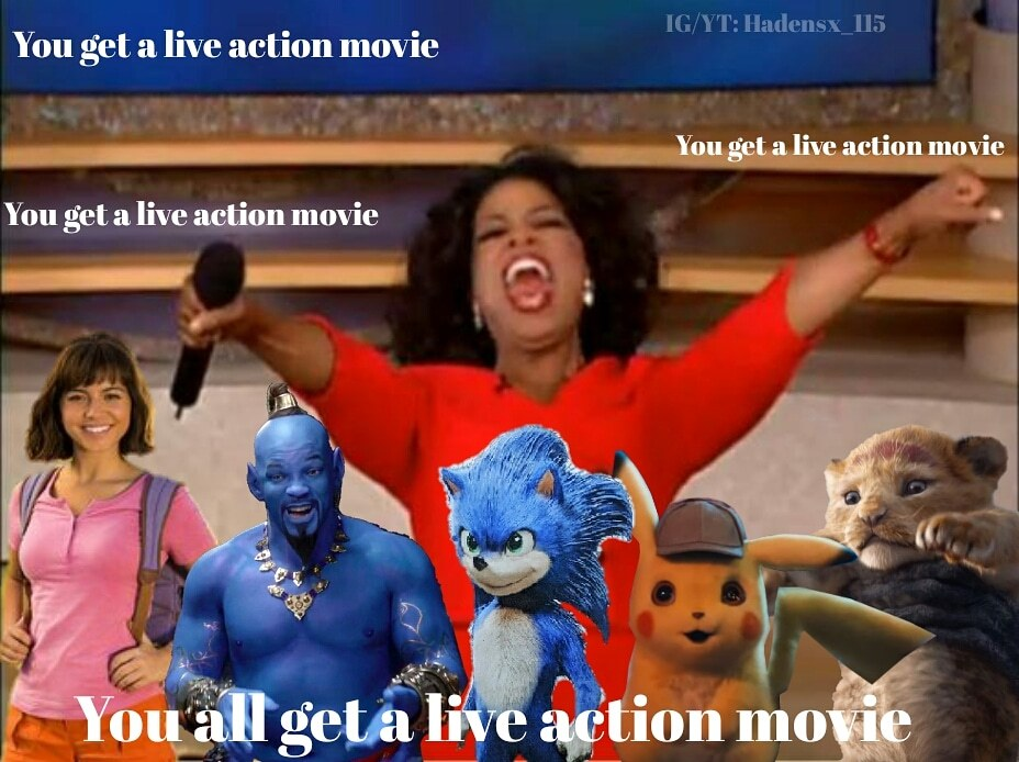 Live action for all - meme