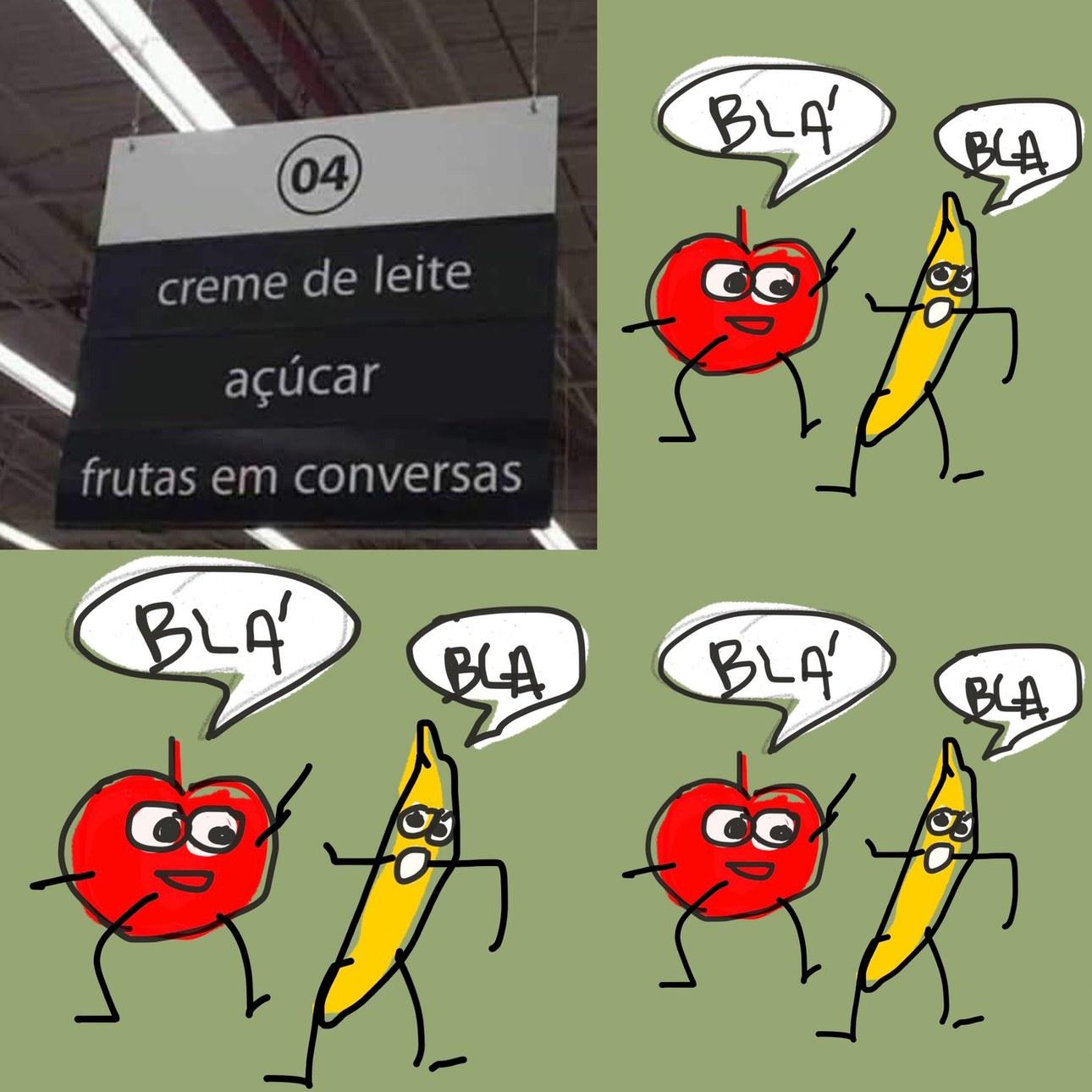 frutas faladeiras - meme