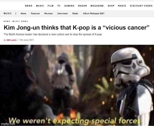 Kim has joined the battle - meme