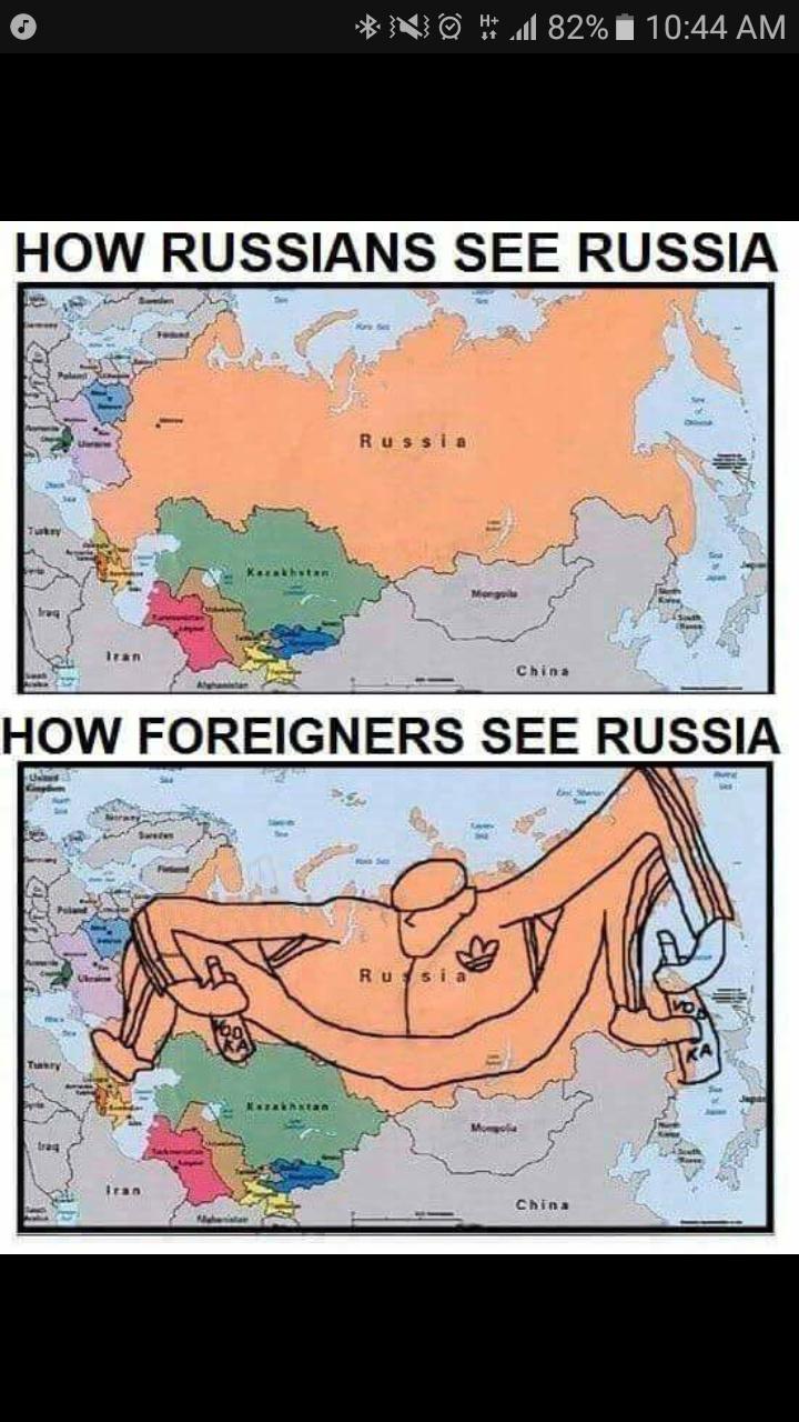 Como los rusos ven russia/como los extranjeros ver russia - meme