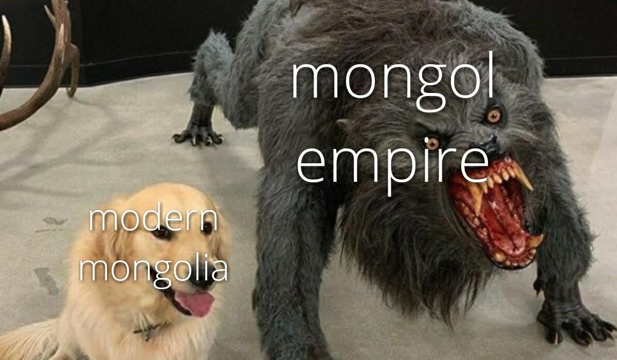 Mongolia is forgotten - meme