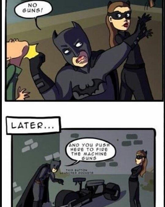 la logique de Batman - meme