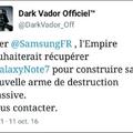 Dark Vador à  rien respecté....