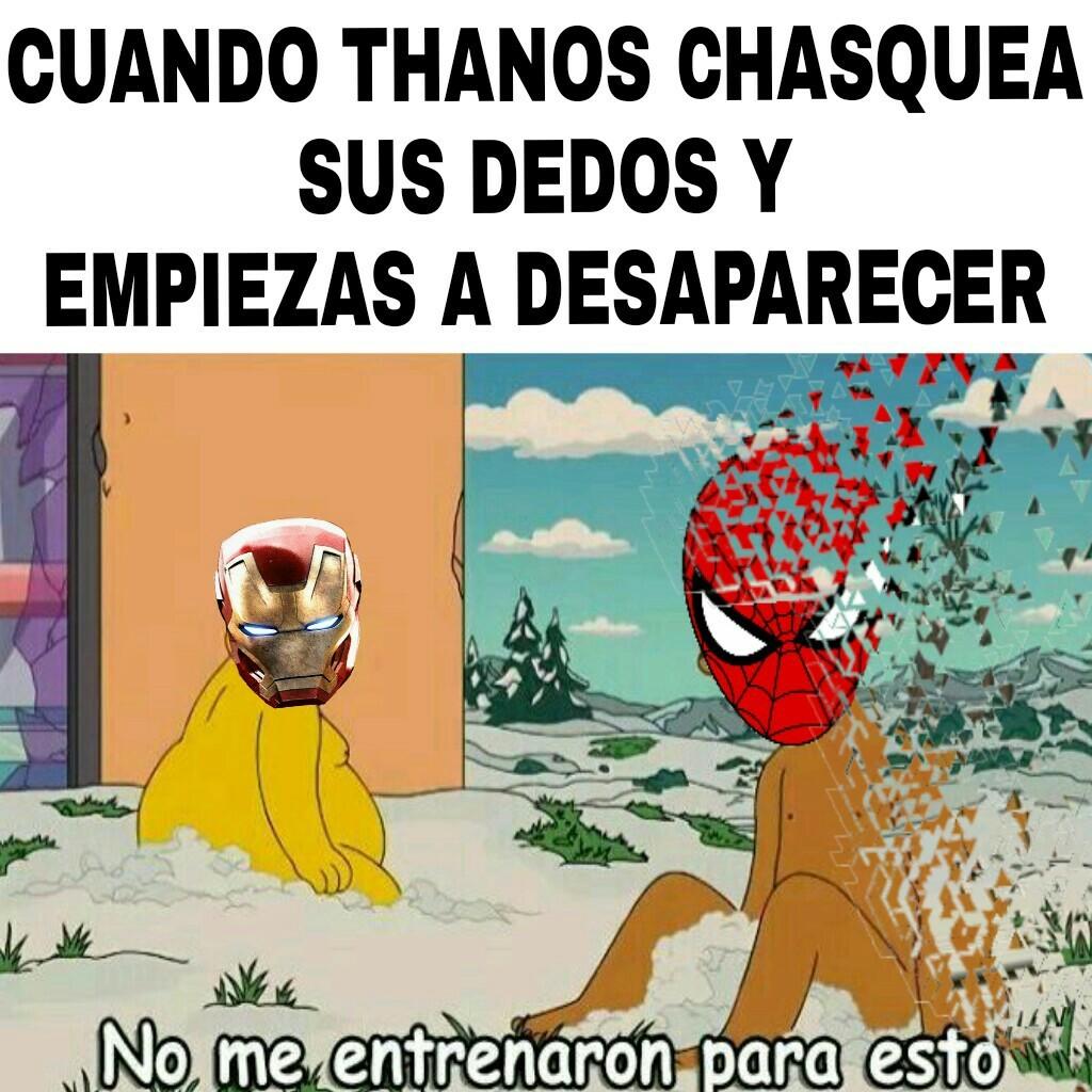 No me quiero ir señor stark - meme