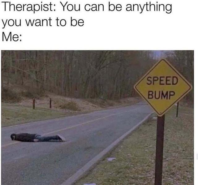 I want to be a speed bump - meme