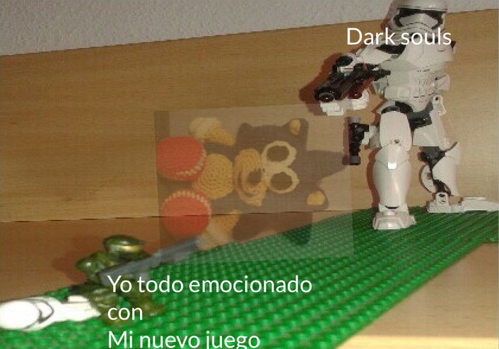 Posdata: mi nuevo juego era darksoulsremastered - meme