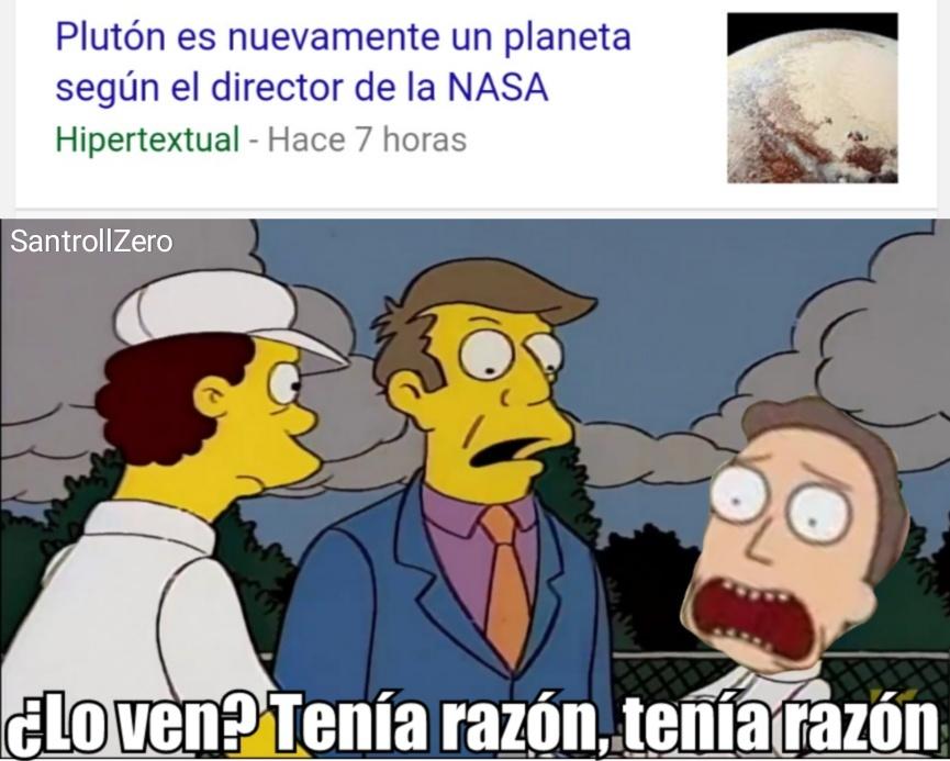 Plutón es un planeta - meme