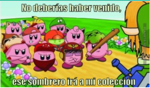 Los Kirbys se van a alzar bien feo contra Link - meme