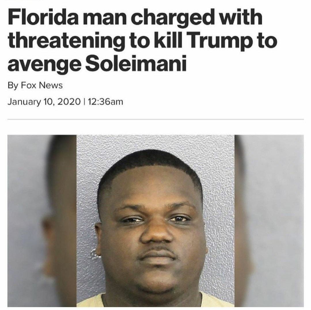 Florida man may not side with the USA - meme