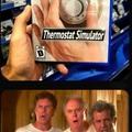 Thermostat simulator