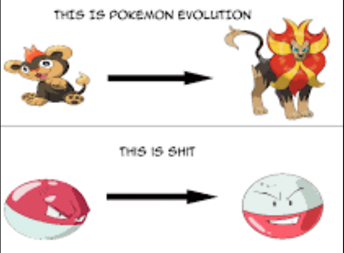 Some evolutions suck - meme