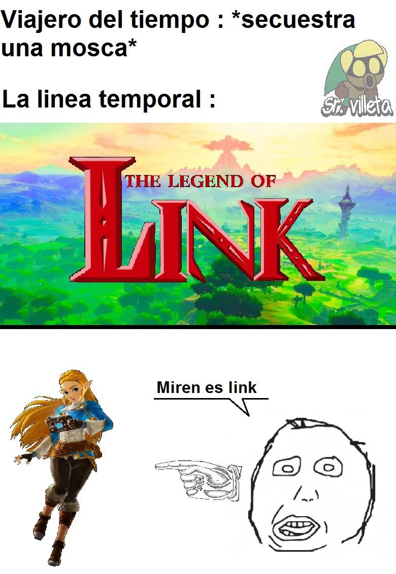 Asi es, edite el logo de the legend of zelda en paint, como supiste ? :chad: - meme