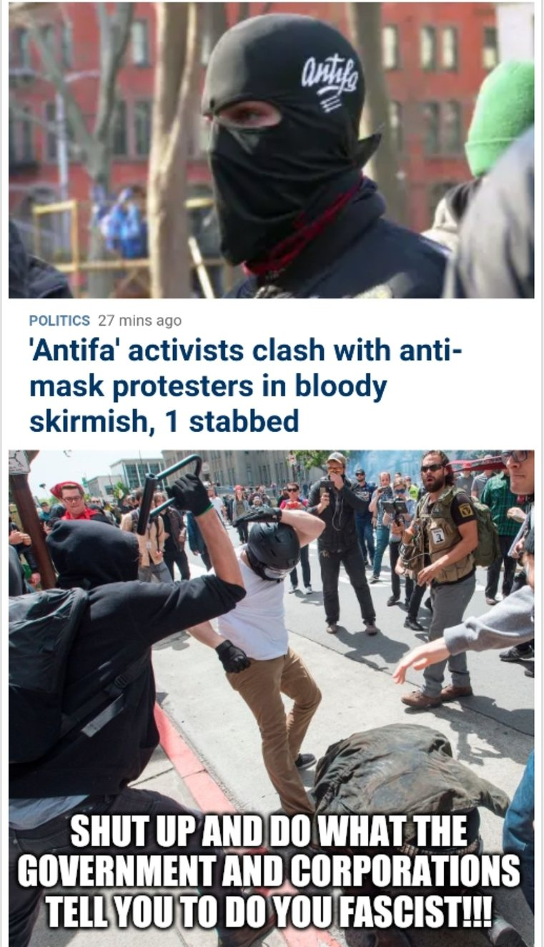 Maybe they never were anti-fascism.. - meme
